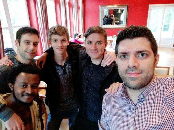vlnr.: Yohannes Tilahun (Äthiopien), Levente Kovacs (Ungarn), David Kolder (Niederlande), ich, Soheil Shirangi (Iran)